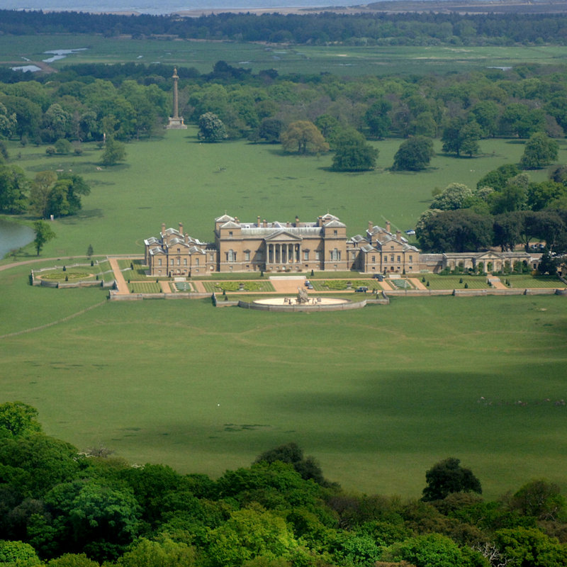 Holkham Hall and Estate - A tourist attraction in north Norfolk, including a stately home, farming exhibition, walled garden, woodland adventure play area, cycle hire and lake activities, parkland, gift shop, caf� and events throughout the year.