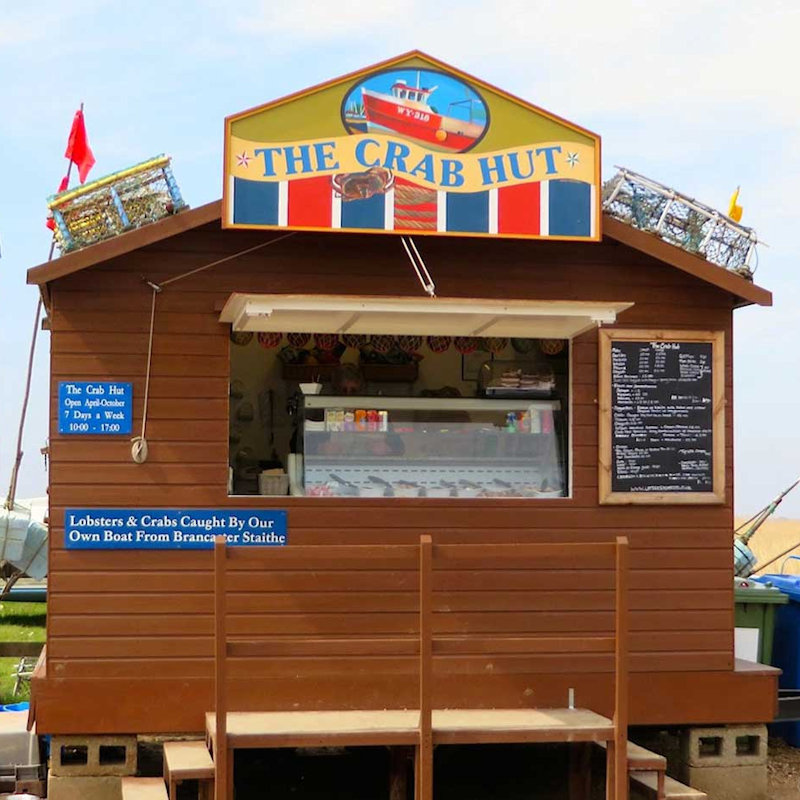 The Crab Hut, Brancaster Staithe, Norfolk - Seafood - Fresh filled baguettes & local seafood. Crabs & lobsters caught by our own boat. Smoked salmon from our smokehouse.