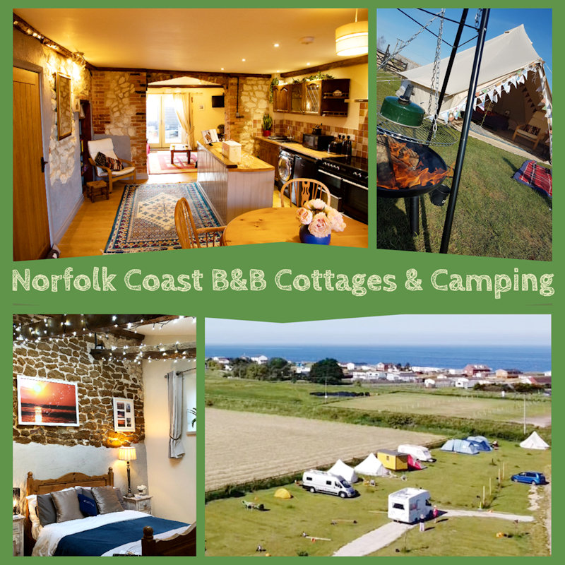 Norfolk Coast B&B Cottages and Camping, Heacham, Norfolk -  - MarshView-Dairy campsite, bed & breakfast and holiday Cottage on the edge of the village in area of outstanding Natural Beauty | Brancaster Staithe & Burnham Deepdale, North Norfolk Coast