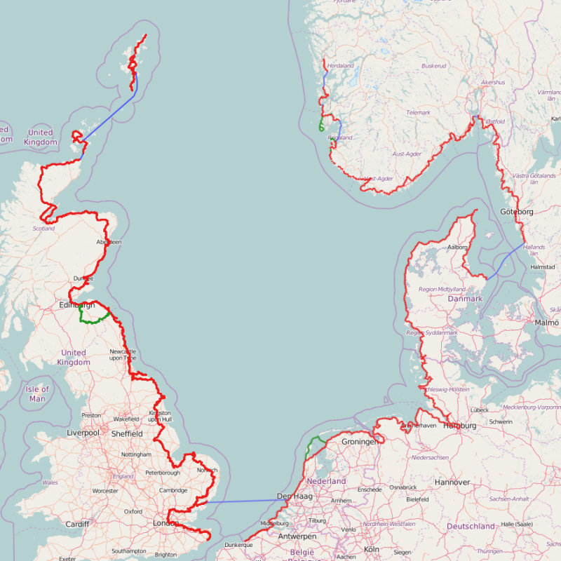 North Sea Cycle Route,  ,   - The North Sea Cycle Route is a 6,000km route based on existing national, regional and local cycle routes in Belgium, the Netherlands, Germany, Denmark, Sweden, Norway, Scotland and England. | Brancaster Staithe & Burnham Deepdale, North Norfolk Coast