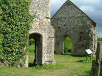 Priory Church of St Mary - Although it is set opposite Burnham Market primary school, just off the road to Burnham Overy, this ruin is actually in Burnham Norton parish, by virtue of being on the west bank of the River Burn. Link isnt official website.